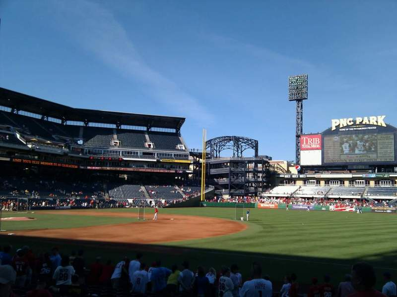 Seating view for PNC Park Section 105 Row a Seat 5