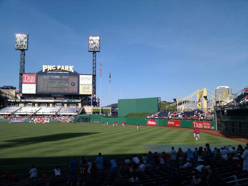Seating view for PNC Park Section 103 Row d Seat 20