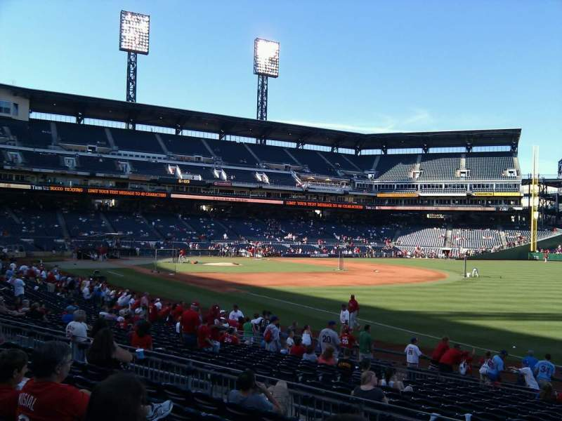 Seating view for PNC Park Section 103 Row g Seat 1