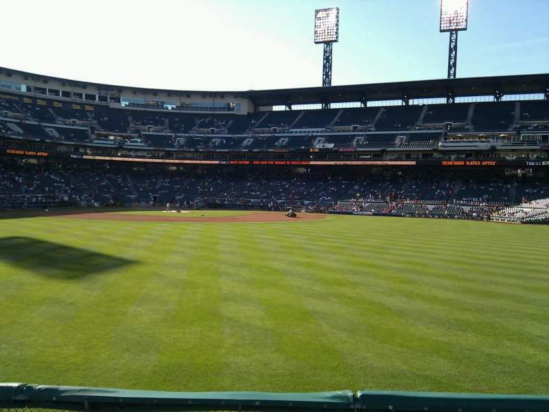 Seating view for PNC Park Section 140 Row f Seat 10