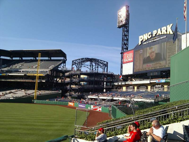Seating view for PNC Park Section 139 Row f Seat 17