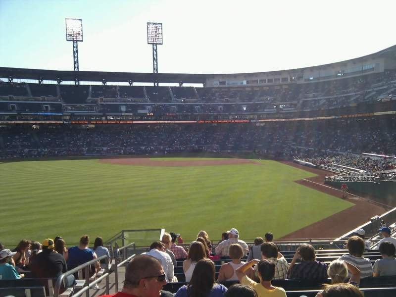 Seating view for PNC Park Section 235 Row n Seat 20