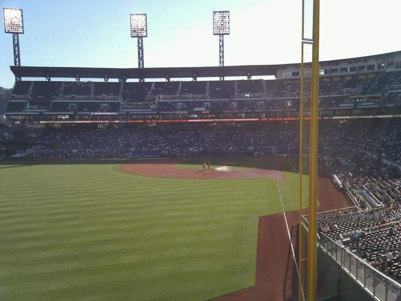 Seating view for PNC Park Section 134