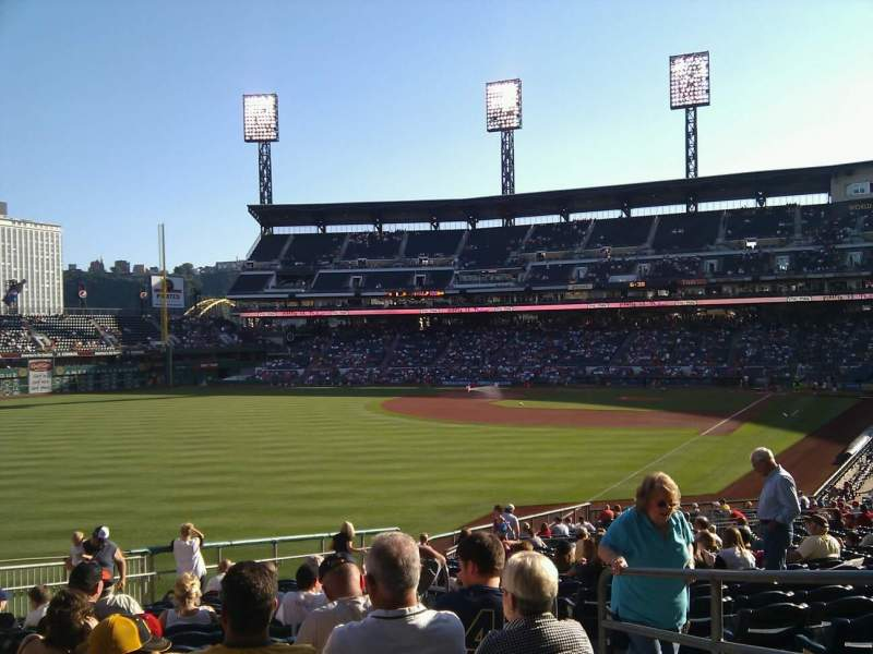 Seating view for PNC Park Section 132 Row z Seat 3