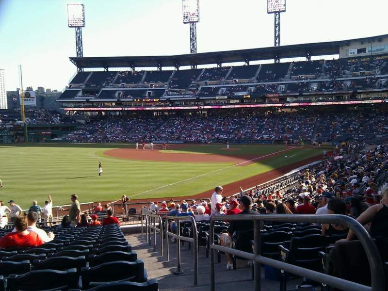 Seating view for PNC Park Section 131 Row u Seat 1