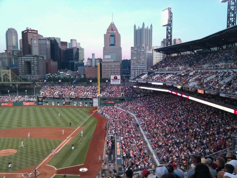 Seating view for PNC Park Section 217 Row j Seat 16