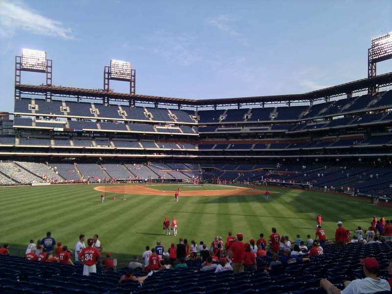 Seating view for Citizens Bank Park Section 146 Row 20 Seat 12
