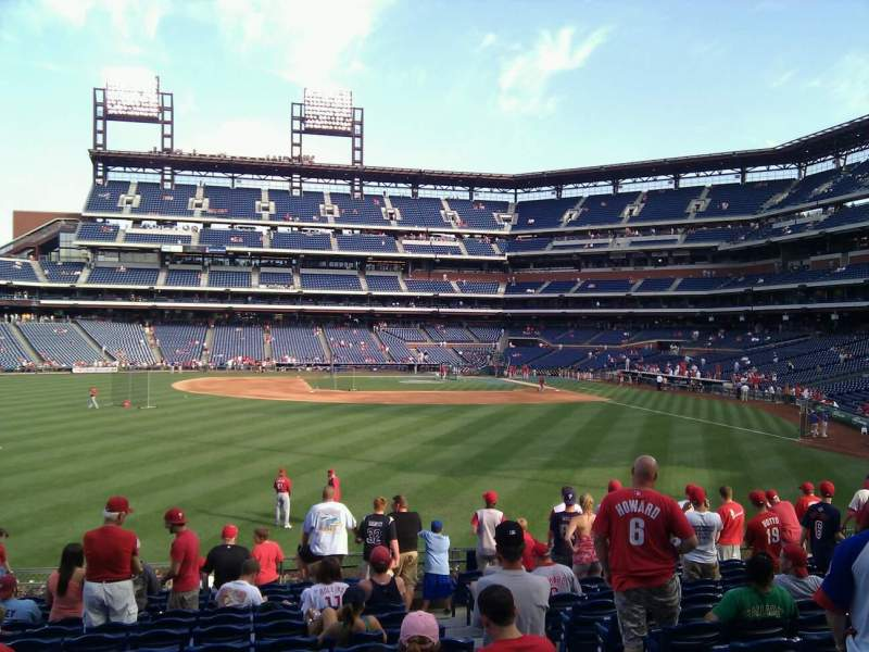 Seating view for Citizens Bank Park Section 144 Row 15 Seat 4