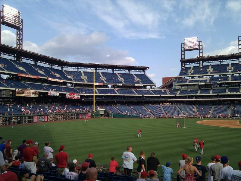 Seating view for Citizens Bank Park Section 143 Row 12 Seat 17
