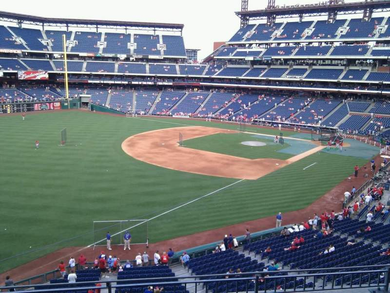 Seating view for Citizens Bank Park Section 235 Row 4 Seat 15
