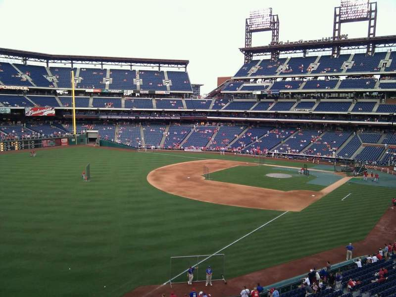 Seating view for Citizens Bank Park Section 236 Row 3 Seat 3