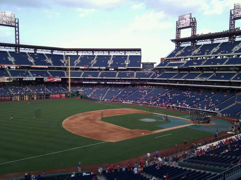 Seating view for Citizens Bank Park Section 233 Row 5 Seat 5
