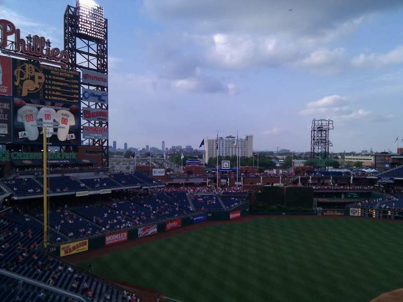 Seating view for Citizens Bank Park Section 326 Row 1 Seat 20