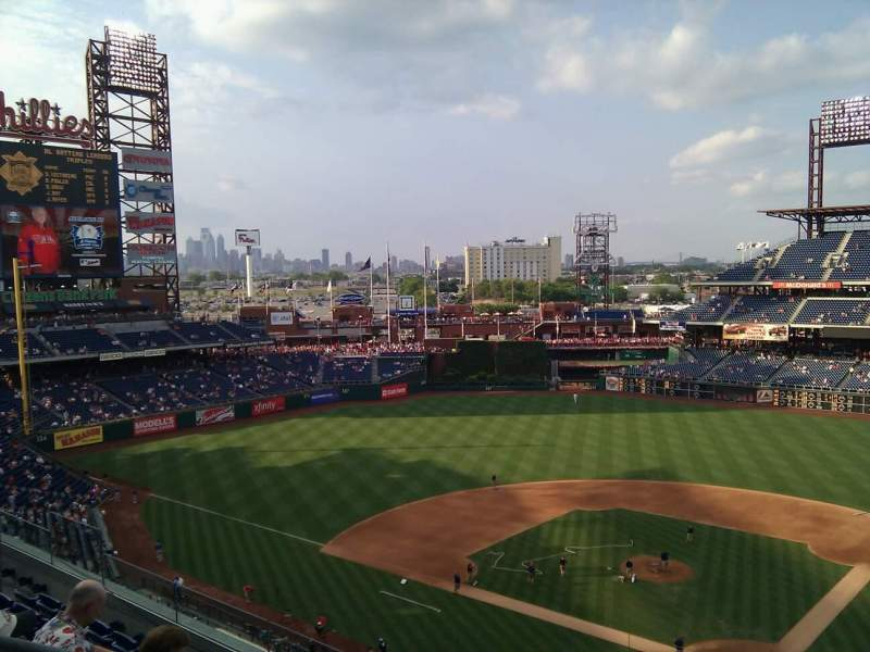 Seating view for Citizens Bank Park Section 322 Row 6 Seat 19