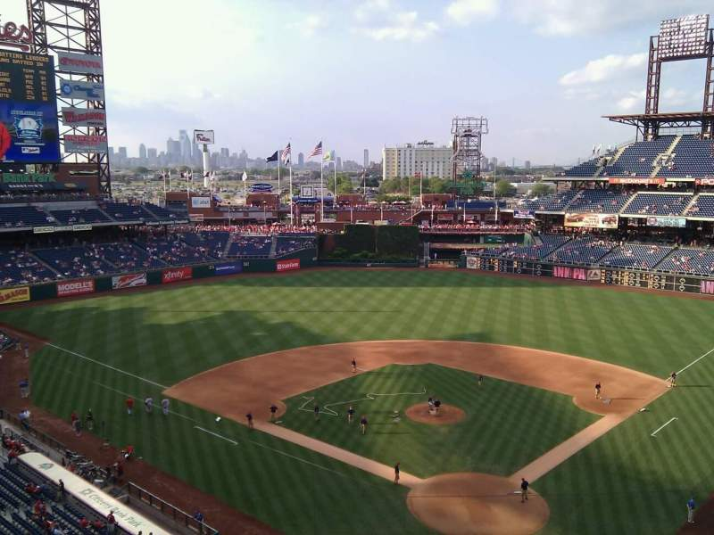 Seating view for Citizens Bank Park Section 321 Row 1 Seat 20