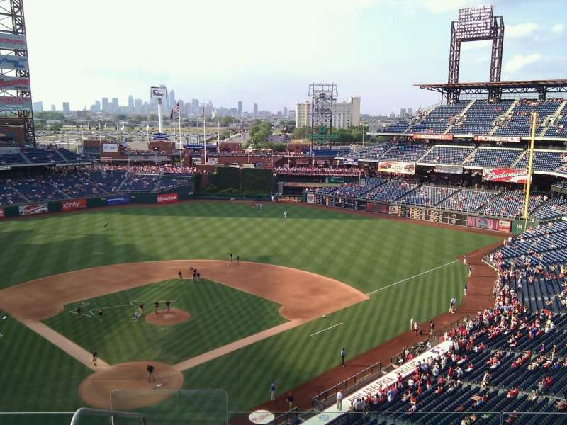 Seating view for Citizens Bank Park Section 319 Row 6 Seat 25