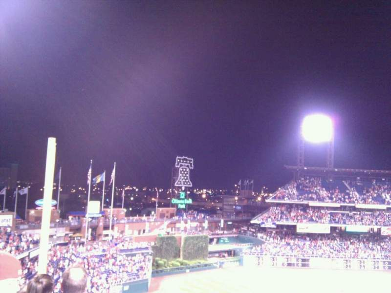 Seating view for Citizens Bank Park Section 332 Row 4 Seat 3