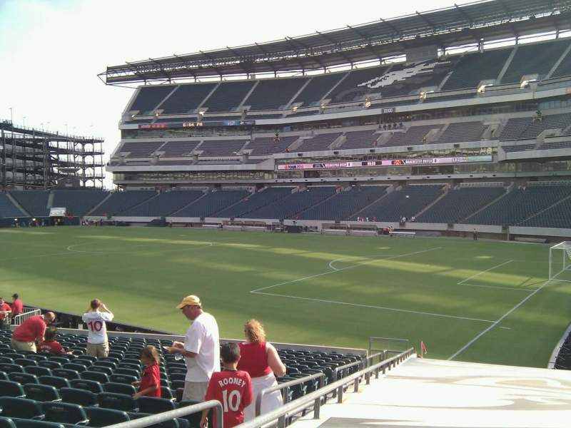 Seating view for Lincoln Financial Field Section 125 Row 20 Seat 23