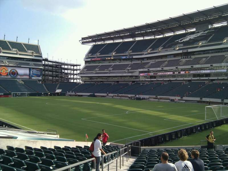 Seating view for Lincoln Financial Field Section 126 Row 18 Seat 18