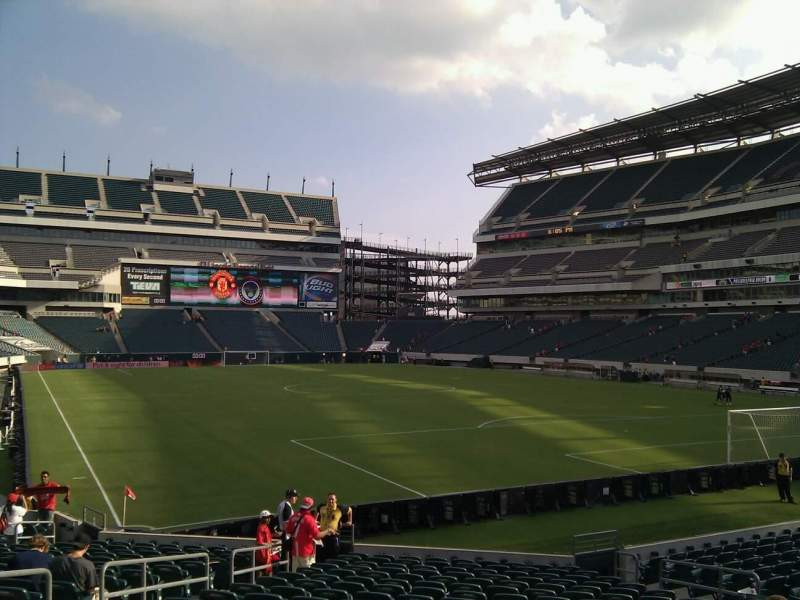 Seating view for Lincoln Financial Field Section 127 Row 19 Seat 13