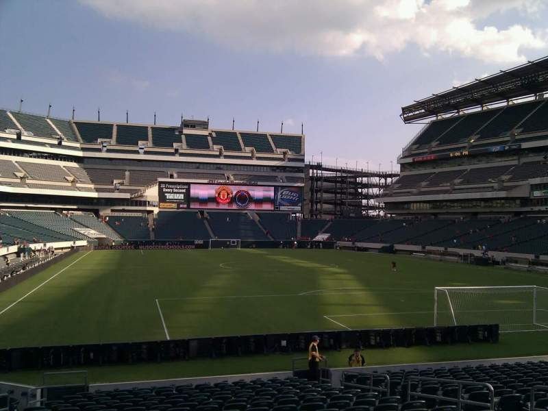 Seating view for Lincoln Financial Field Section 128 Row 18 Seat 10