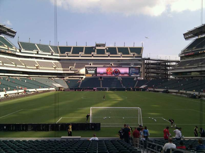 Seating view for Lincoln Financial Field Section 129 Row 20 Seat 4
