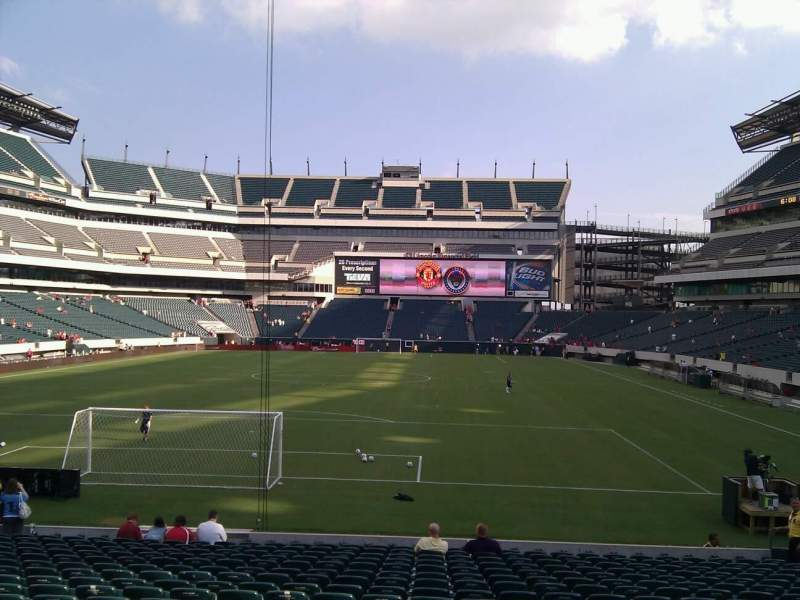 Seating view for Lincoln Financial Field Section 130 Row 19 Seat 14