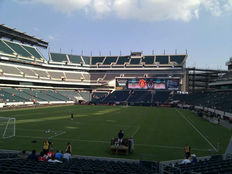 Seating view for Lincoln Financial Field Section 131 Row 17 Seat 7