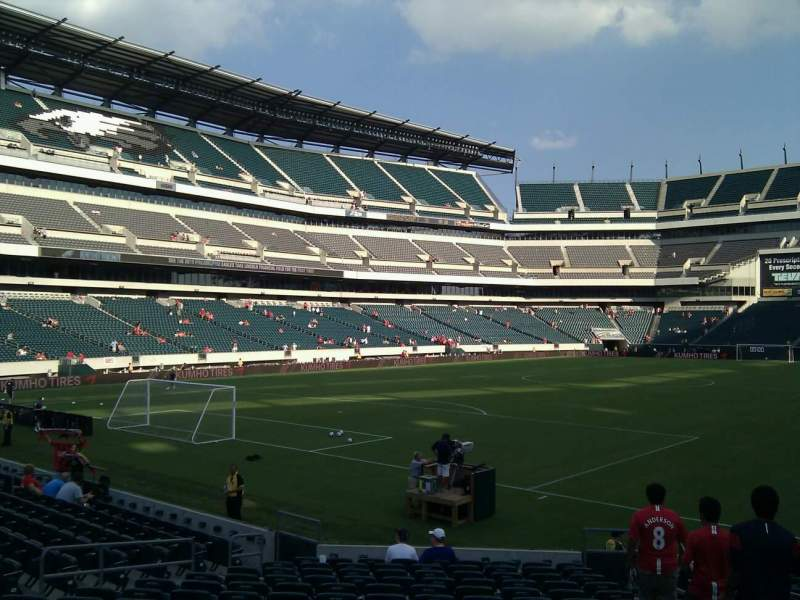 Seating view for Lincoln Financial Field Section 132 Row 16 Seat 4