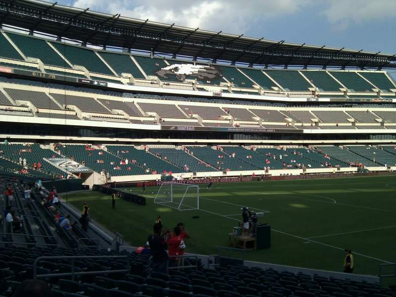 Seating view for Lincoln Financial Field Section 133 Row 16 Seat 8