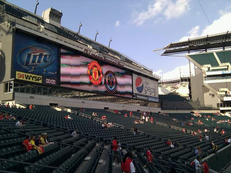 Seating view for Lincoln Financial Field Section 134 Row 15 Seat 7
