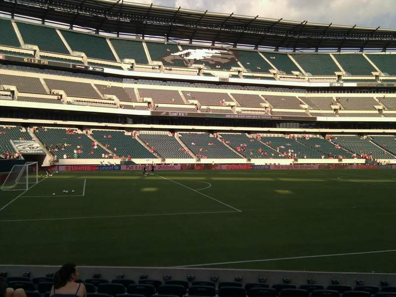 Seating view for Lincoln Financial Field Section 135 Row 10 Seat 8