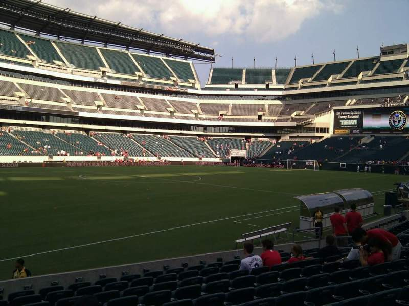 Seating view for Lincoln Financial Field Section 136 Row 11 Seat 20