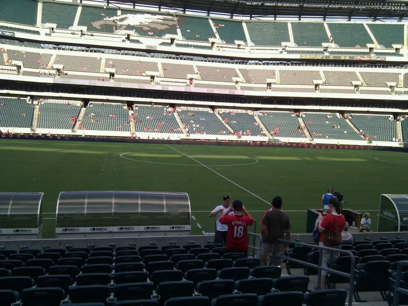 Seating view for Lincoln Financial Field Section 138 Row 12 Seat 6