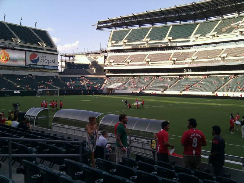 Seating view for Lincoln Financial Field Section 103 Row 8 Seat 10