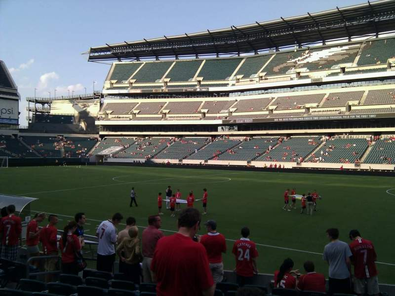 Seating view for Lincoln Financial Field Section 104 Row 10 Seat 10