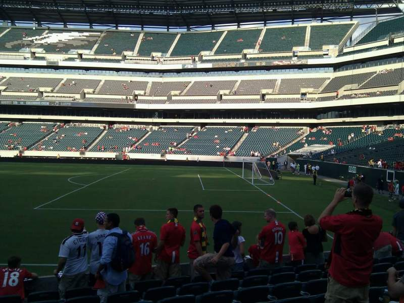 Seating view for Lincoln Financial Field Section 105 Row 9 Seat 21