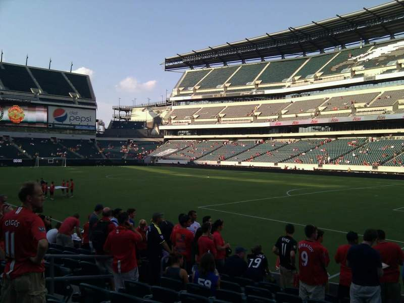 Seating view for Lincoln Financial Field Section 106 Row 10 Seat 11