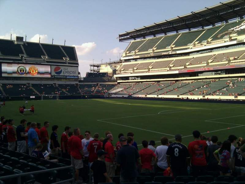 Seating view for Lincoln Financial Field Section 107 Row 9 Seat 13