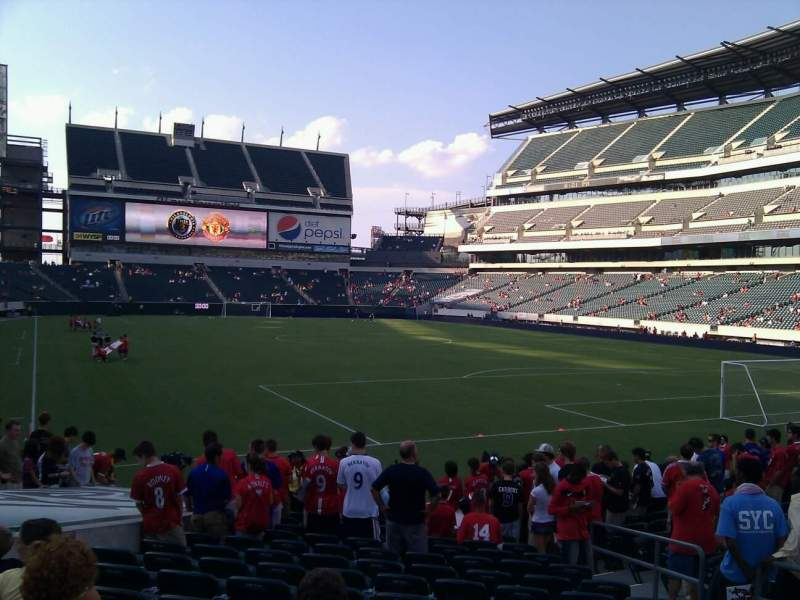 Seating view for Lincoln Financial Field Section 108 Row 14 Seat 7