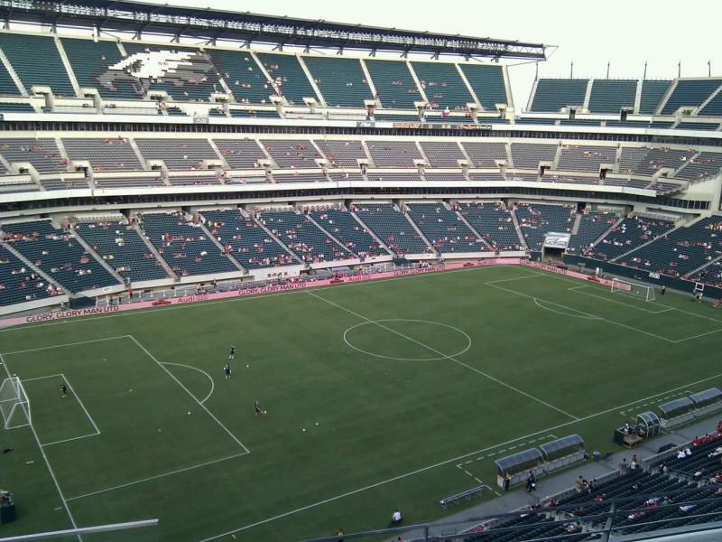 Seating view for Lincoln Financial Field Section 240 Row 4 Seat 23