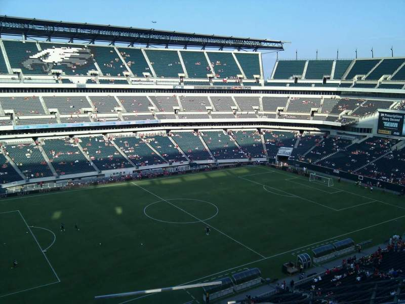 Seating view for Lincoln Financial Field Section 241 Row 4 Seat 1