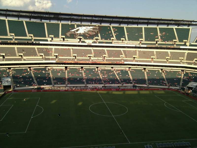 Seating view for Lincoln Financial Field Section 244 Row 4 Seat 23