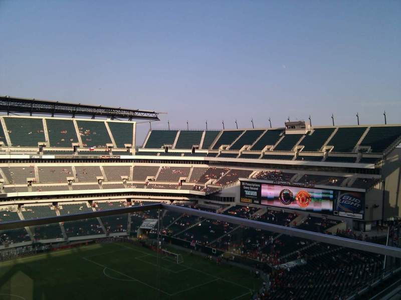 Seating view for Lincoln Financial Field Section 243 Row 6 Seat 1
