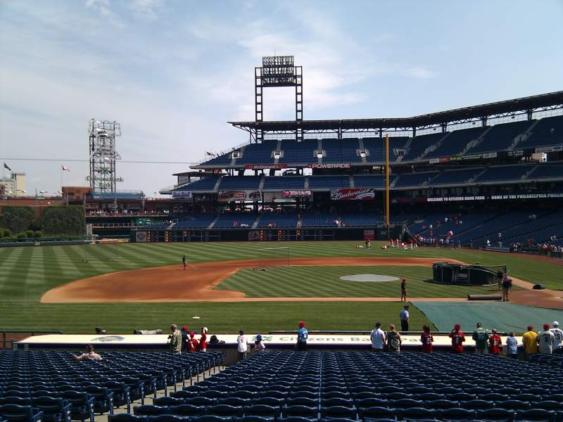 Seating view for Citizens Bank Park Section 130 Row 26 Seat 13