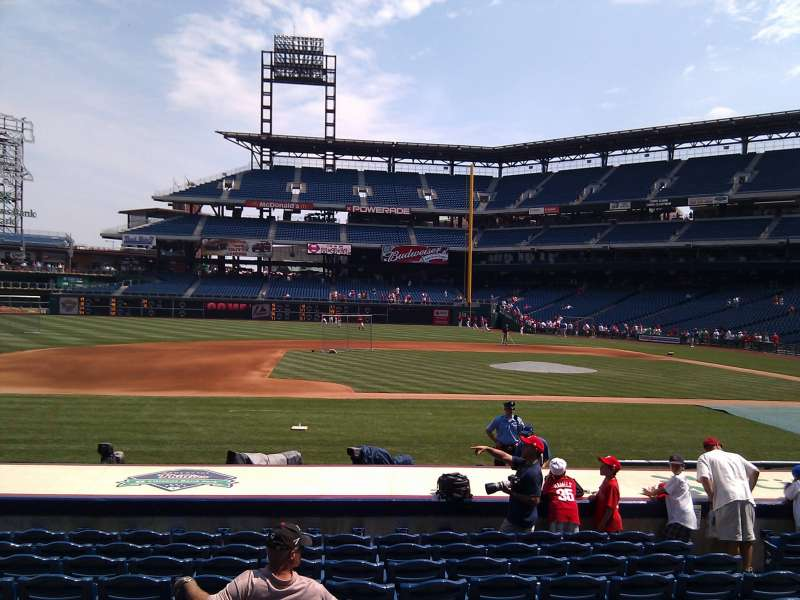 Seating view for Citizens Bank Park Section 131 Row 11 Seat 7