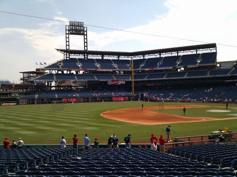 Seating view for Citizens Bank Park Section 134 Row 25 Seat 10