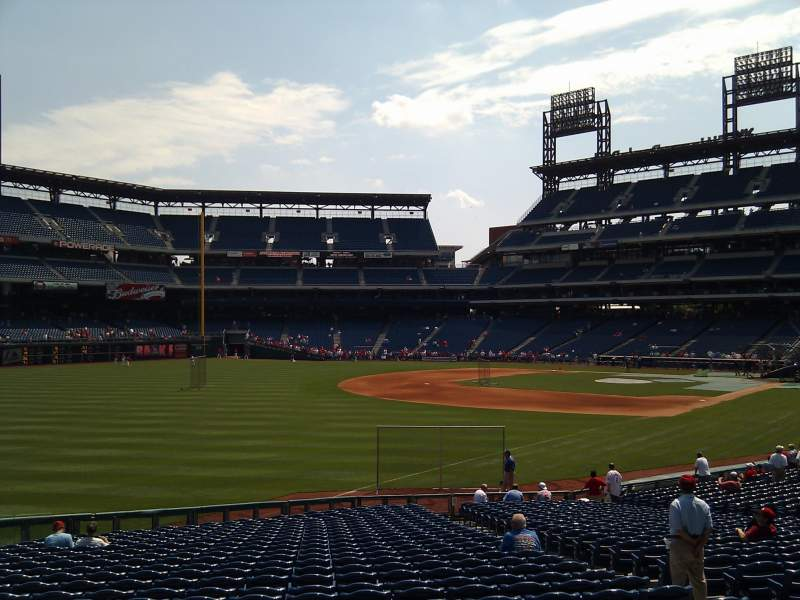 Seating view for Citizens Bank Park Section 139 Row 30 Seat 7