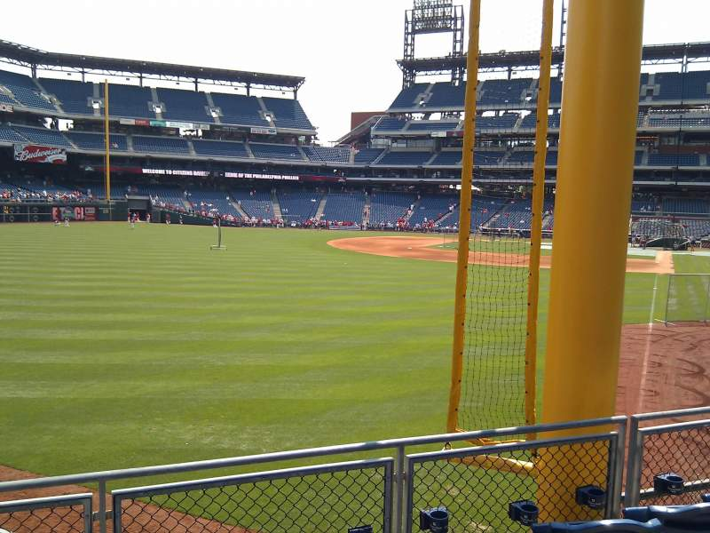 Seating view for Citizens Bank Park Section 140 Row 10 Seat 16