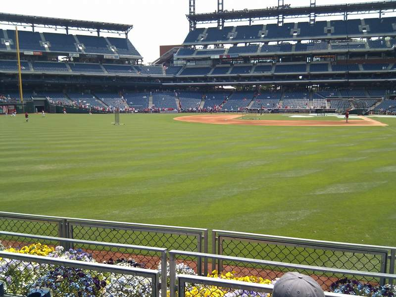 Seating view for Citizens Bank Park Section 142 Row 3 Seat 4
